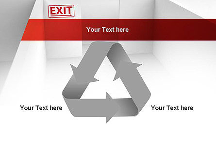 Maze Exit Sign PowerPoint Template Slide 10