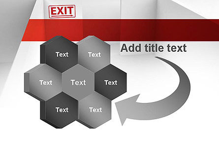 Maze Exit Sign PowerPoint Template Slide 11