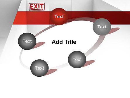 Maze Exit Sign PowerPoint Template Slide 14