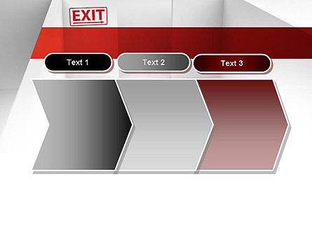 Maze Exit Sign PowerPoint Template Slide 16