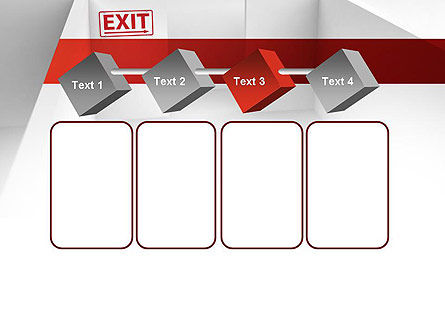 Maze Exit Sign PowerPoint Template Slide 18