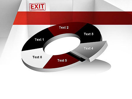 Maze Exit Sign PowerPoint Template Slide 19