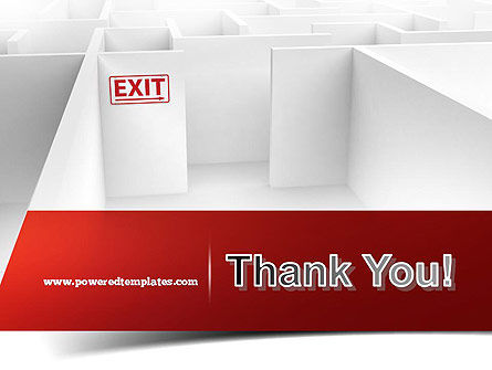 Maze Exit Sign PowerPoint Template Slide 20