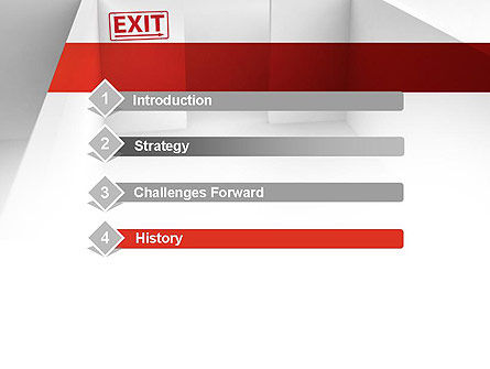 Maze Exit Sign PowerPoint Template Slide 3