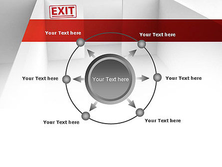 Maze Exit Sign PowerPoint Template Slide 7