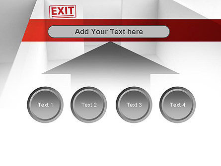 Maze Exit Sign PowerPoint Template Slide 8