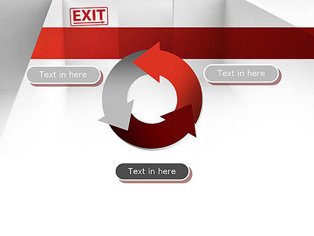 Maze Exit Sign PowerPoint Template Slide 9