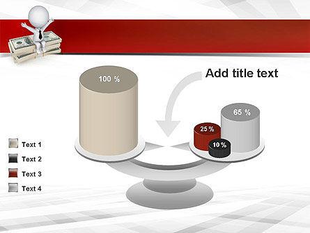 Sitting on Dollar Packs PowerPoint Template Slide 10