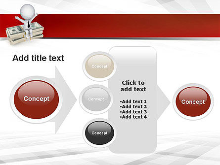 Sitting on Dollar Packs PowerPoint Template Slide 17