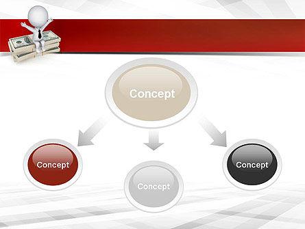Sitting on Dollar Packs PowerPoint Template Slide 4
