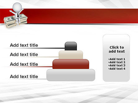 Sitting on Dollar Packs PowerPoint Template Slide 8