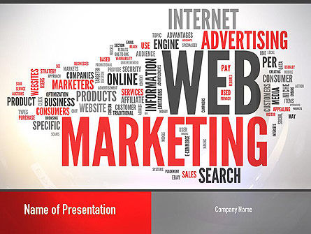 Careers/Industry: Web Marketing Word Cloud PowerPoint Template #10989