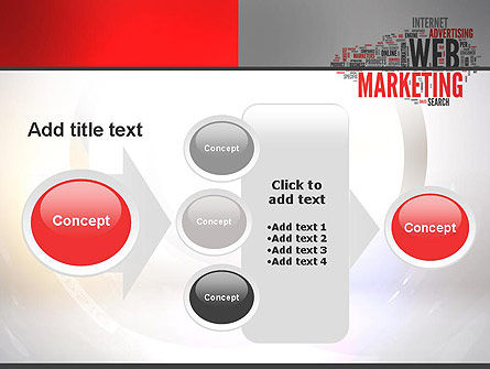 Web Marketing Word Cloud PowerPoint Template Slide 17