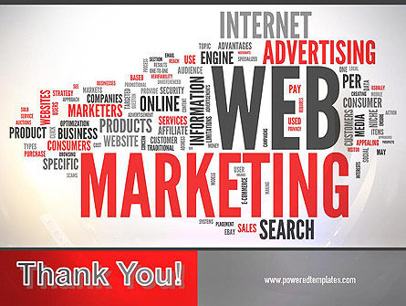 Web Marketing Word Cloud PowerPoint Template Slide 20