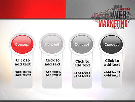 Web Marketing Word Cloud PowerPoint Template Slide 5
