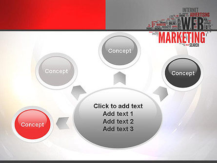 Web Marketing Word Cloud PowerPoint Template Slide 7