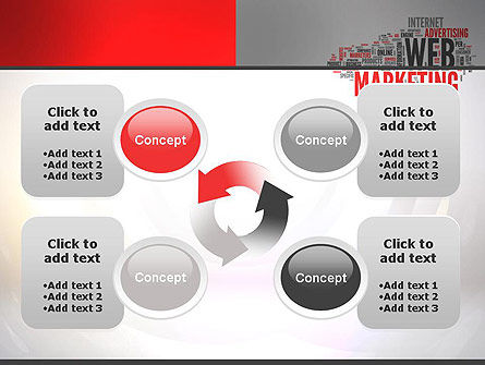 Web Marketing Word Cloud PowerPoint Template Slide 9