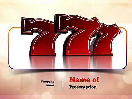 Lucky Sevens PowerPoint Template, 10990, Careers/Industry — PoweredTemplate.com