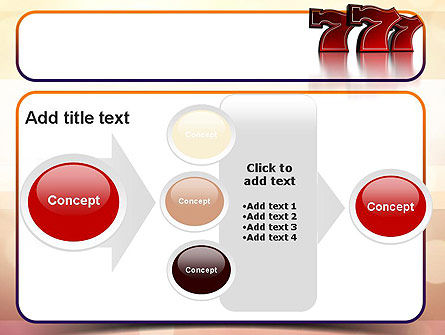 Lucky Sevens PowerPoint Template Slide 17