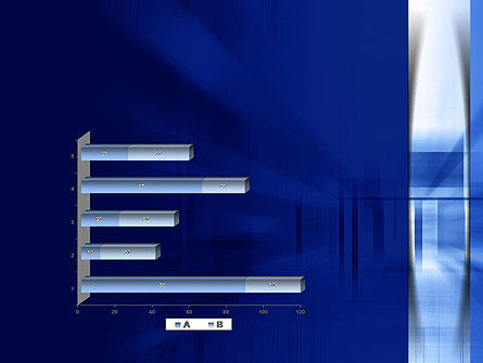 Abstract Horizontal and Vertical Perspective PowerPoint Template Slide 11