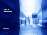Abstract/Textures: Abstract Horizontal and Vertical Perspective PowerPoint Template #10991