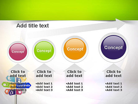 Social Media Signs PowerPoint Template Slide 13
