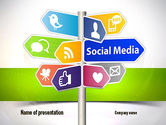 Careers/Industry: Social Media Signs PowerPoint Template #10992