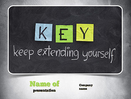 Keep Extending Yourself PowerPoint Template