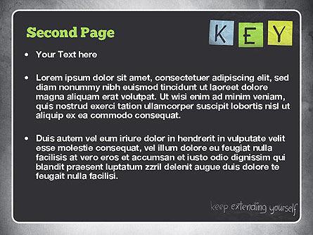 Keep Extending Yourself PowerPoint Template, Slide 2, 10994, Education & Training — PoweredTemplate.com