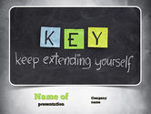 Education & Training: Keep Extending Yourself PowerPoint Template #10994