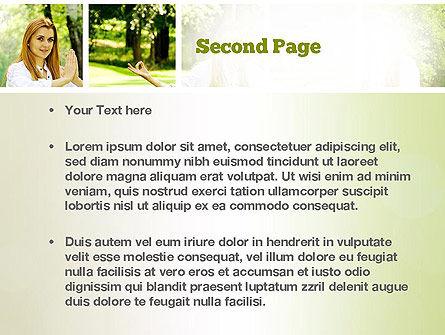 Yoga Outdoors PowerPoint Template, Slide 2, 10995, People — PoweredTemplate.com