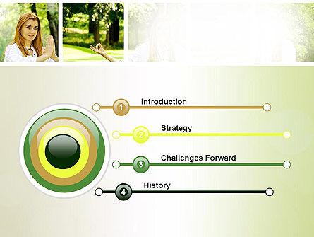 Yoga Outdoors PowerPoint Template, Slide 3, 10995, People — PoweredTemplate.com