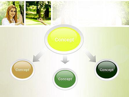 Yoga Outdoors PowerPoint Template, Slide 4, 10995, People — PoweredTemplate.com
