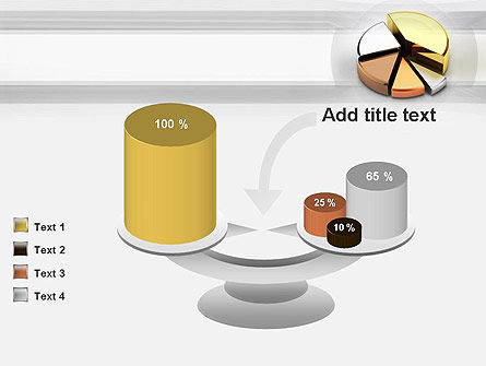Pie Chart from Noble Metals PowerPoint Template Slide 10