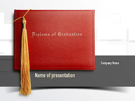 Graduation Diploma PowerPoint Template, 10997, Education & Training — PoweredTemplate.com