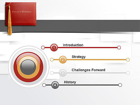 Graduation Diploma PowerPoint Template, Slide 3, 10997, Education & Training — PoweredTemplate.com