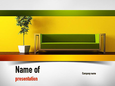 Careers/Industry: Interior in Lime PowerPoint Template #10998