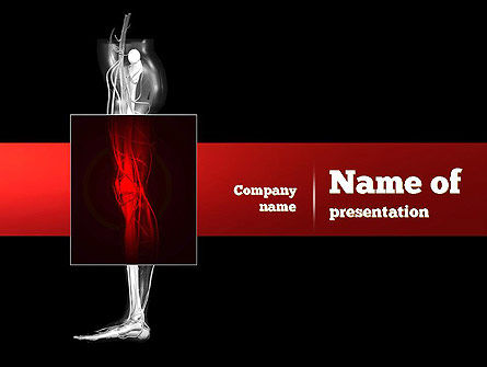 Medical: Human Knee PowerPoint Template #11000