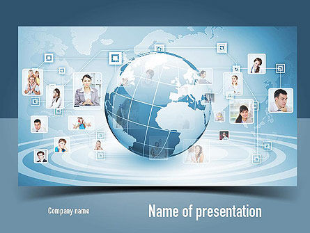 Business Networking PowerPoint Template, 11001, Careers/Industry — PoweredTemplate.com