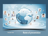 Careers/Industry: Business Networking PowerPoint Template #11001