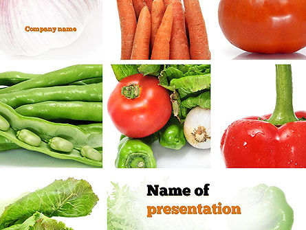 Different Vegetables Collage PowerPoint Template, 11002, Food & Beverage — PoweredTemplate.com