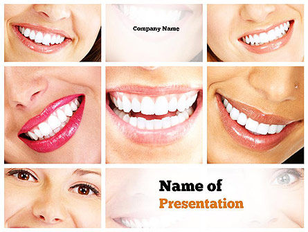 Medical: Plantilla de PowerPoint - sonrisa dental #11003