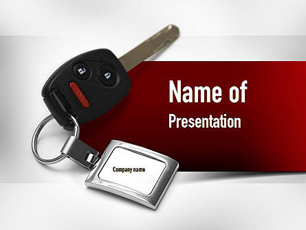 Technology and Science: Car Key PowerPoint Template #11004