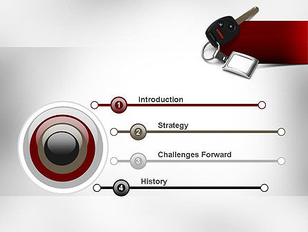 Car Key PowerPoint Template, Slide 3, 11004, Technology and Science — PoweredTemplate.com
