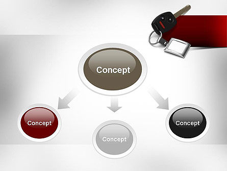 Car Key PowerPoint Template, Slide 4, 11004, Technology and Science — PoweredTemplate.com