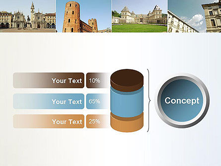 Turin Landmarks Collage PowerPoint Template Slide 11