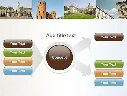 Turin Landmarks Collage PowerPoint Template Slide 14