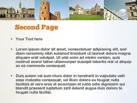 Turin Landmarks Collage PowerPoint Template Slide 2