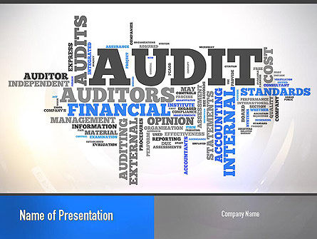 Financial/Accounting: Audit Word Cloud PowerPoint Template #11008