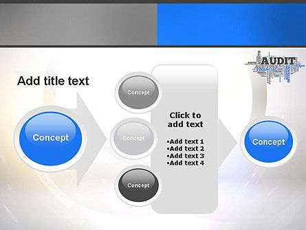 Audit Word Cloud PowerPoint Template Slide 17